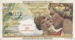 20 NF sur 1000 Francs Union française ÎLE DE LA RÉUNION  1967 K.446b TTB+
