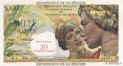 20 NF sur 1000 Francs Union française ÎLE DE LA RÉUNION  1967 K.446b NEUF