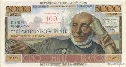 100 NF sur 5000 Francs Schoelcher ÎLE DE LA RÉUNION  1971 P.56b SUP à SPL