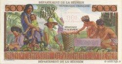 100 NF sur 5000 Francs Schoelcher ÎLE DE LA RÉUNION  1971 K.447b SUP à SPL