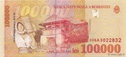 100000 Lei ROUMANIE  1998 P.110 NEUF