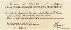 150 Lires SAINT-MARIN  1976 PS.101 NEUF