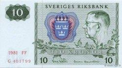 10 Kronor SUÈDE  1981 P.52e NEUF