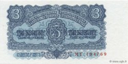3 Korun TCHÉCOSLOVAQUIE  1953 P.079b NEUF
