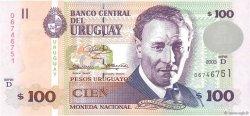 100 Pesos Uruguayos URUGUAY  2003 P.085 NEUF
