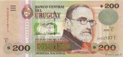 200 Pesos Uruguayos URUGUAY  2006 P.089a NEUF