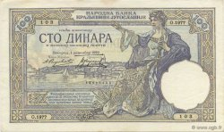 100 Dinara YOUGOSLAVIE  1929 P.027b SPL