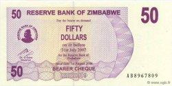 50 Dollars ZIMBABWE  2006 P.41 NEUF