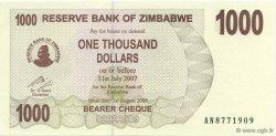 1000 Dollars ZIMBABWE  2006 P.44 NEUF