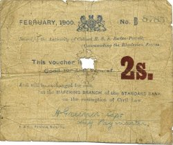 2 Shillings AFRIQUE DU SUD  1900 PS.652 AB