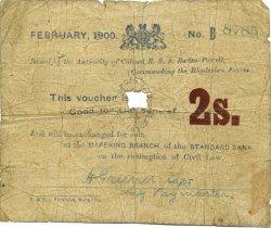 2 Shillings AFRIQUE DU SUD Mafeking 1900 PS.652 AB