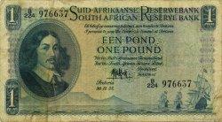 1 Pound AFRIQUE DU SUD  1955 P.093e TB