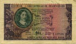 10 Pounds AFRIQUE DU SUD  1958 P.099 TTB+