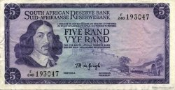 5 Rand AFRIQUE DU SUD  1975 P.111c TTB