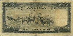 1000 Escudos ANGOLA  1956 P.091 pr.TB
