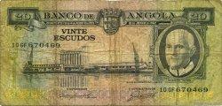 20 Escudos ANGOLA  1962 P.092 B+