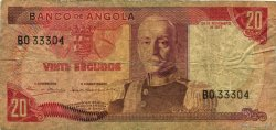 20 Escudos ANGOLA  1972 P.099 TB