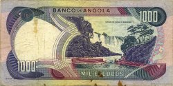 1000 Escudos ANGOLA  1972 P.103 TB+