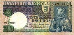 20 Escudos ANGOLA  1972 P.104a TTB
