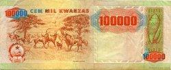 100000 Kwanzas ANGOLA  1991 P.133a TTB