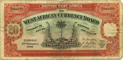 20 Shillings AFRIQUE OCCIDENTALE BRITANNIQUE  1941 P.08b TB