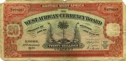 20 Shillings AFRIQUE OCCIDENTALE BRITANNIQUE  1945 P.08b B+