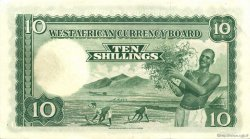 10 Shillings AFRIQUE OCCIDENTALE BRITANNIQUE  1953 P.09a SUP+
