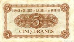 5 Francs BURUNDI  1961 P.01 SUP