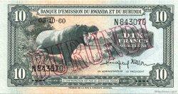 10 Francs BURUNDI  1960 P.02 pr.SPL