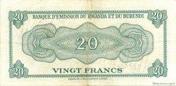 20 Francs BURUNDI  1960 P.03 SUP