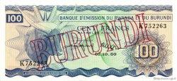100 Francs BURUNDI  1962 P.05 SUP+