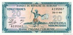 20 Francs BURUNDI  1964 P.10 NEUF