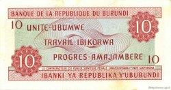 10 Francs BURUNDI  1968 P.20a SPL