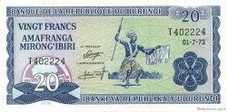 20 Francs BURUNDI  1973 P.21b SUP+