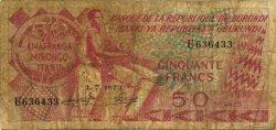 50 Francs BURUNDI  1973 P.22b B