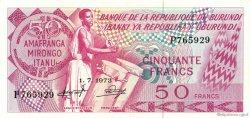 50 Francs BURUNDI  1973 P.22b SUP
