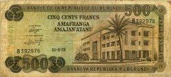 500 Francs BURUNDI  1975 P.24c pr.TB