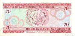 20 Francs BURUNDI  1977 P.27a NEUF