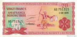 20 Francs BURUNDI  1979 P.27a SUP