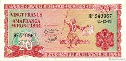 20 Francs BURUNDI  1986 P.27b pr.NEUF