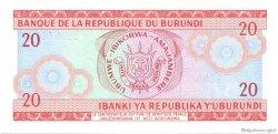 20 Francs BURUNDI  1989 P.27b NEUF