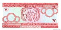 20 Francs BURUNDI  2005 P.27d NEUF