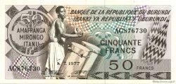 50 Francs BURUNDI  1977 P.28a SUP à SPL