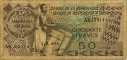 50 Francs BURUNDI  1979 P.28a B+