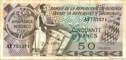 50 Francs BURUNDI  1979 P.28a TTB