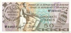 50 Francs BURUNDI  1989 P.28c pr.SPL