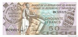 50 Francs BURUNDI  1991 P.28c NEUF