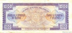 100 Francs BURUNDI  1979 P.29a TTB+