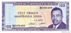 100 Francs BURUNDI  1979 P.29a NEUF