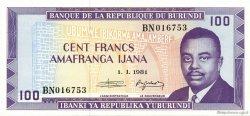 100 Francs BURUNDI  1981 P.29b NEUF